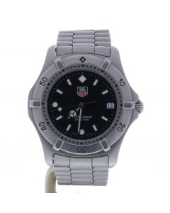 TAG-Heuer Professional Stainless-steel 962006 Black Dial Mens 40-mm Quartz Sapph