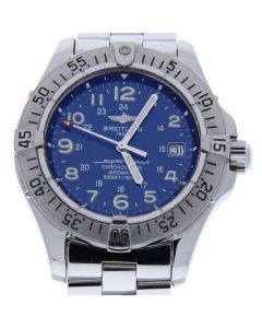 Breitling Superocean Stainless-steel A17360 Blue Dial Mens 44-mm Automatic self