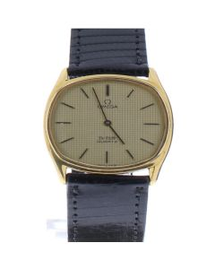 Omega DeVille Gold-tone Stainless steel 1365 Champagne Dial Mens 28-mm Quartz Sapphire crysta