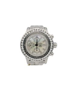 Breitling Super Avenger Stainless-steel A13370 Mother-of-Pearl Dial Mens 48-mm A