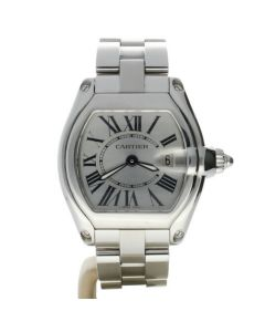 Cartier Roadster 2675 Stainless-steel Silver Dial Date Womens 43-mm Quartz Watch