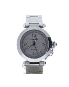 Cartier Pasha 2384 Stainless-steel Silver Dial Mens 36-mm Automatic Watch