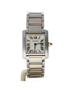 Cartier Tank Francaise Stainless-steel 2384 White Dial Womens 30-mm Quartz Sapph