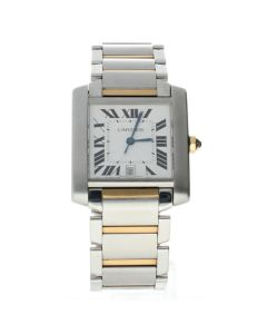 Cartier Tank Francaise Stainless-steel W51005Q4 Silver Dial Mens 36-mm Automatic
