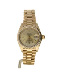 Rolex DateJust 26 Yellow-gold 6917 Champagne Dial Womens 26-mm Automatic self-wi