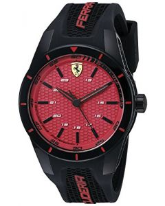 Ferrari RED REV Plastic 0840025 Red Dial Mens 44-mm Japanese-quartz Mineral crys