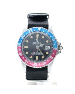 Rolex GMT-Master Stainless-steel 1675 Black Dial Mens 40-mm Automatic self-wind