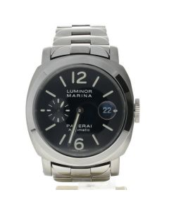 Panerai Luminor Marina Stainless-steel OP6553 Black Dial Men's 42-mm Automatic-self-wind Sapphire crystal. Swiss Made Wrist Watch
