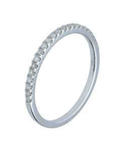 0.17ct  Diamond 18k White Gold Bands - 202343