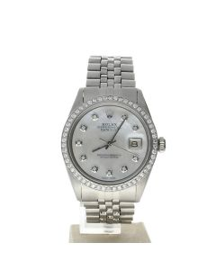 Rolex DateJust 36 Stainless-steel 1603 Silver Dial Men's 36-mm Automatic-self-wind Sapphire crystal. Swiss Made Wrist Watch
