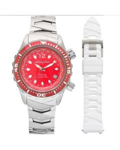The Abingdon Co Marina Titanium MA-RRED Red Dial Women's 40-mm Automatic-self-wind Sapphire crystal. Proudly Designed in USA Wrist Watch
