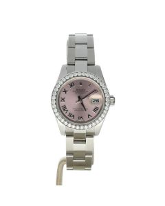 Rolex DateJust 26 Stainless-steel 179160 Pink Dial Women's 26-mm Automatic-self-wind Sapphire crystal. Swiss Made Wrist Watch