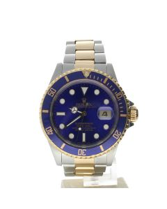Rolex Submariner Stainless-steel 16613 Blue Dial Mens 40-mm Automatic self-wind Sapphire crystal. Swiss Made Wrist Watch