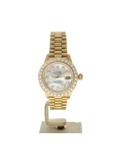 Rolex Datejust 26 Yellow-gold 6917 Mother-of-Pearl Dial Women's 26-mm Automatic-self-wind Wrist Watch