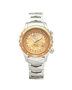 The Abingdon Co Marina Titanium MA-YSNA Yellow Dial Womens 40-mm Pilot's Dual Ti