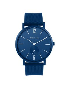 BERING Time True Aurora Collection Resin 16940-799 Blue Dial Unisex-adult 40-mm Quartz Sapphire crystal. Designed in Denmark Wrist Watch
