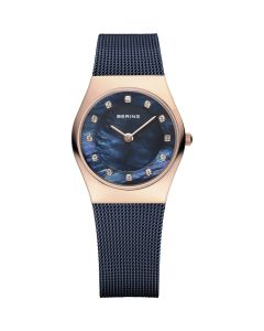 BERING Time Classic Collection Stainless-steel 11927-367 Blue Dial Womens 27-mm