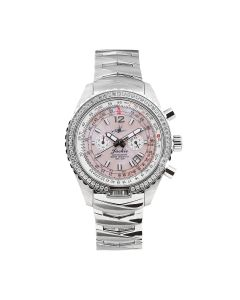 The Abingdon Co Aviation Stainless-steel JA-SP Mother-of-Pearl Dial Womens Watch