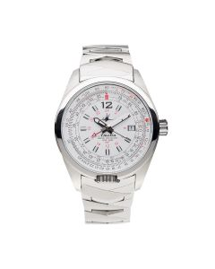 The Abingdon Co Aviation Stainless-steel AM-CW-SSB White Dial Womens 40-mm Quart