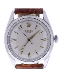 Rolex Oyster Perpetual Stainless-steel 6022 White Dial Mens 34-mm Manual Plastic