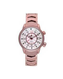 The Abingdon Co Tri-Time Zone Stainless-steel EL-BRO Mother-of-Pearl Dial Womens