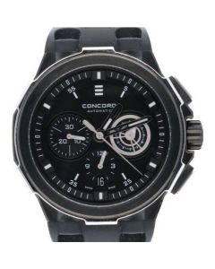 Concord C2 Chronograph Stainless-steel 0320191 Black Dial Mens 43-mm Quartz Sapp