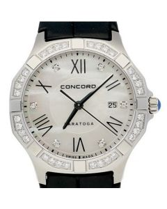 Concord Saratoga Stainless-steel 0320213 Mother-of-Pearl Dial Womens 31-mm Quart