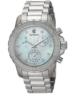 Movado Series 800 Stainless-steel 2600128 Mother-of-Pearl Dial Womens 35-mm Quar