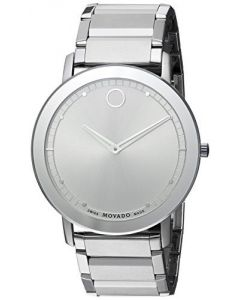 Movado Sapphire Stainless-steel 606881 Silver Dial Mens 40-mm Quartz Sapphire cr