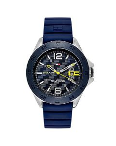 Tommy Hilfiger Stainless-steel 1791204 Grey Dial Mens 46-mm Quartz Mineral cryst