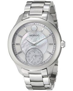 Movado Women's 0660004 Analog Display Swiss Quartz Silver Smartwatch