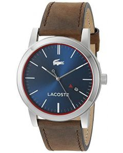 Lacoste Men's 2010848 Metro Quartz Brown Leather Casual Watch