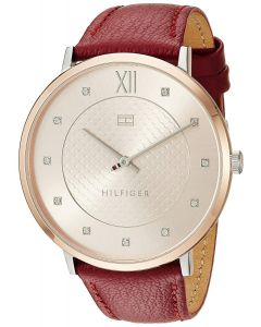 Tommy Hilfiger Women's Sophisticated Sport Quartz Watch with Leather Strap, Brown, 20 (Model: 1781810)