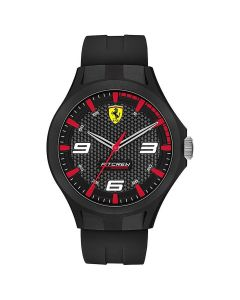 SCUDERIA FERRARI Pit Crew Men Black Analogue Watch 0830680