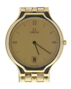 Omega Depose Yellow-gold 2143 Champagne Dial Mens 32-mm Automatic self-wind Sapp