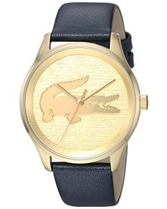 Lacoste Women's 2000996 Fashion Victoria 3h 38mm Brushed Gold Dial Watch