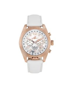 The Abingdon Co Katherine Stainless Steel KA-RSUN White Dial Womens 40-mm Pilot'