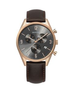 BERING Time 10542-562 Mens Classic Collection Watch with Calfskin Band.