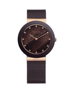 BERING Time 11435-262 Womens Ceramic Collection Watch with Mesh Band.