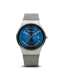 BERING Time 11938-003 Men Classic Collection Watch with Stainless-Steel Strap..