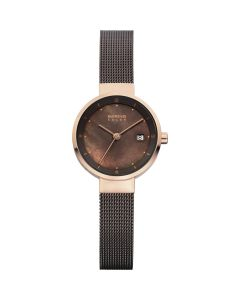 BERING Time 14426-265 Womens Solar Collection Watch with Mesh Band.