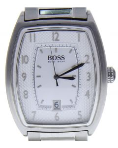 Hugo Boss HB-162 Stainless-steel 1512221 Silver Dial Mens 36-mm Quartz Mineral c