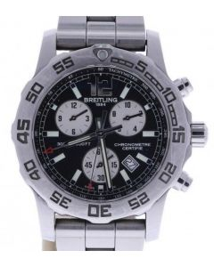 Breitling Colt Chronograph Stainless-steel A73387 Black Dial Mens 43-mm Quartz S