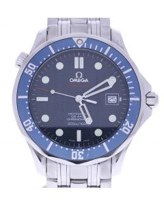 Omega Seamaster Stainless-steel CoAxlal Blue Dial Mens 41-mm Quartz Sapphire cry
