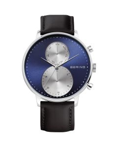 BERING Time Classic Collection Stainless-steel 13342-407 Blue Dial Mens 42-mm Qu