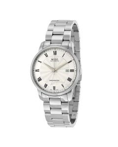 Mido Men's MIDO-M0104081103300 Baroncelli Analog Display Swiss Automatic Silver Watch