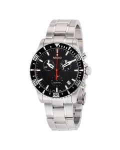 Mido M0114171105102 Ocean Star Mens Watch - Black Dial Stainless Steel Case Quartz Movement